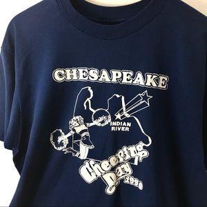 Vintage 1990 Chesapeake Cheer T-shirt